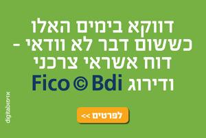 דוח Fico© Bdi החדש עלה לרשת